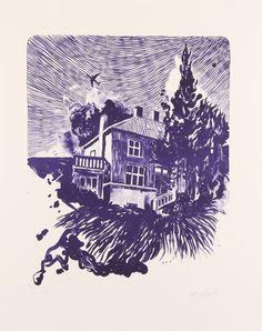 Lithography (Purple House) – mortenschelde.com