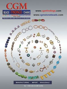 Find all your wholesale jewelry making supplies in our 106 page free catalog - viewed online, or shipped free via mail. #jewelrymaking