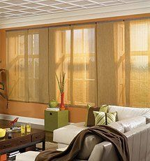 Bali Panel Track Solar Shades - Diamante, Lanai, Mist, Tropics, Vineyard and Weave by Bali. $240.00. Bali Sliding Panels offer a modern alternative to standard window treatments that's perfect for patio doors, wide windows or as a room divider. Solar shades allow you to maintain your view minimizing glare, blocking damaging UV rays and reducing heat transmittance. Lanai, Mist, Tropics, Vineyard have 10% openness (90% UV/light blockage) and Weave has 7% openness.