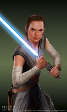 """A closeup crop of the Rey I painted for the """"Star Wars: Destiny"""" game that was released last week for Force Friday II! The box cover for the game origin. Star Wars Rpg, Rey Star Wars, Emperor Palpatine, Destiny Game, First Order, Last Jedi, Long Time Ago, For Stars, Movie Posters"""