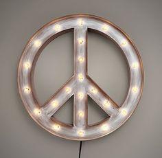 Illuminated Peace Sign | Wall | Restoration Hardware Baby & Child