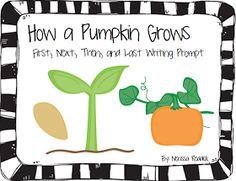 "The Best of Teacher Entrepreneurs: FREE LANGUAGE ARTS LESSON - ""How a Pumpkin Grows: First, Next, Then, After, Finally"""