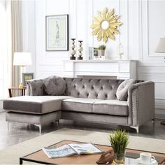 Petite Section, Living Room Furniture, Home Furniture, Living Room Decor, Sofa Scandinavian, Muebles Home, Sectional Sofa With Chaise, Couches, Corner Sofa Set