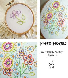Pretty--Fresh Florals Embroidery Pattern