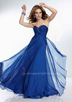 Full Length Mori Lee 95035 Royal Beaded Neckline Formal Dress