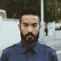 Half Chinese, half Cambodian beard time. Hair And Beard Styles, Hair Styles, Hot Beards, Hot Asian Men, Beard No Mustache, Male Face, Face Claims, Hot Guys, Hot Men