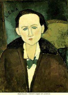 Amedeo Modigliani. Portrait of Elena Pavlowski.