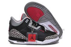 size 40 80a09 a32a1 Discount Nike Air Jordan 3 Kids 2014 Grey Black Red, Price   61.00 - Air  Jordan Shoes, Michael Jordan Shoes