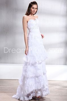 Delicate Sweetheart Tiered Floor-length Courtl Trumpet/Mermaid Lace Patricia's Wedding Dresses