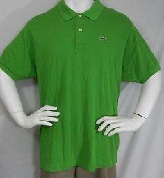 Lacoste Classic Alligator S/S Pique Cotton Pique Golf Polo Shirt 8 2XL green
