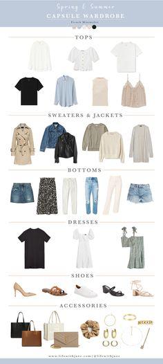 My Spring/Summer Capsule Wardrobe is here! Capsule Wardrobe Casual, Minimal Wardrobe, Capsule Outfits, Fashion Capsule, Mode Outfits, Summer Wardrobe, French Capsule Wardrobe, Classic Wardrobe, Wardrobe Staples
