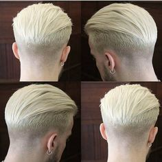Enjoy exclusive for Blue Bird 613 Blonde Hair Pieces For Men Swiss Lace With Soft PU European Virgin Human Hair Toupee inch Skin Base online - Chictopclothing Cool Haircuts, Hairstyles Haircuts, Haircuts For Men, Cool Hairstyles, Mens Hairstyles Blonde, Barber Shop Haircuts, Blonde Hair Pieces, Hair Pieces For Men, Hair And Beard Styles