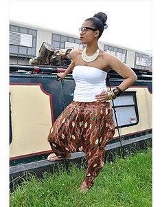 Algeria - Gorgeous costumisable dashiki african trousers