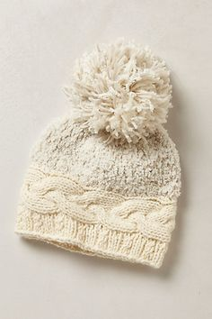 I have to figure out how to make this - Pommed Peak Beanie from Anthropologie.
