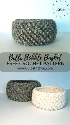 Fast Crochet, Chunky Crochet, Crochet Home, Crochet Crafts, Yarn Crafts, Crochet Summer, Crotchet Patterns, Crochet Basket Pattern, Crochet Stitches