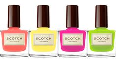 Scotch Naturals - Eco-friendly nail polish in brilliant pastel colors for spring and summer!