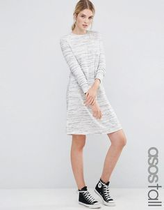 ASOS+TALL+Casual+Swing+Sweat+Dress+in+Space+Dye