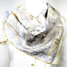 Authentic Hermes Silk Scarf Le Voyage de Pythéas by Aline Honore - Sold Out at HERMES