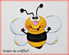 CRAFTECAFE BEE BUG GARDEN paper piecing premade scrapbook page die cut WOLFFEY5 #wolffey5