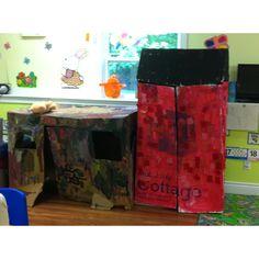 Preschool cardboard houses Cardboard Houses, Planes, Homeschool, Boxes, Classroom, Teaching, Education, Ideas, Airplanes