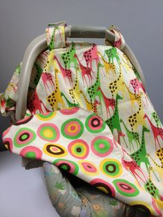 Order now! Canopys ON SALE 3in1 Giraffes Car Seat Canopy Tent by babybibboot, $29.99 repin :)