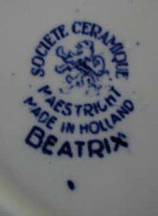 Beatrix Societe Ceramique Maastricht - merk close up.