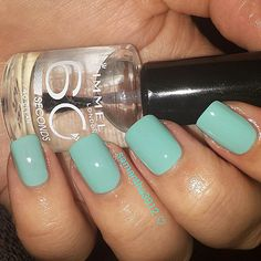 """""""Love using Rimmel Londons clear nail polish. It makes my nails so shiny, dries super quick plus stays shiny for ages :) :) by the way this colour is my base for my next mani im working on  #nails #nailpolishaddict #nailsoftheweek #falsenails #ilovenails #paintedpinkies #nailartwow"""" Photo taken by @samantha3912 on Instagram, pinned via the InstaPin iOS App! http://www.instapinapp.com (01/27/2015)"""