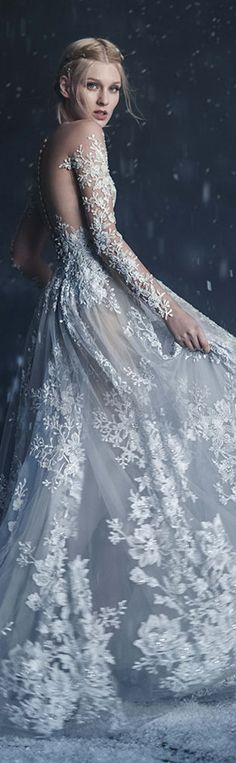 Paolo Sebastian 2016 Autumn - Winter Couture Wedding Dress Collection 'Snow Maiden'