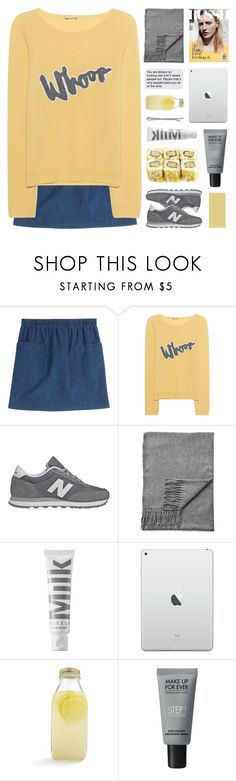 """""""WHOOP"""" by emmas-fashion-diary ❤ liked on Polyvore featuring A.P.C., Juvia, New Balance, Acne Studios, MILK MAKEUP, Bormioli Rocco, MAKE UP FOR EVER and Madewell"""