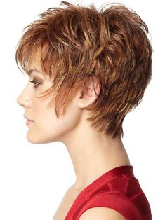 Layered Pixie Brown Hair