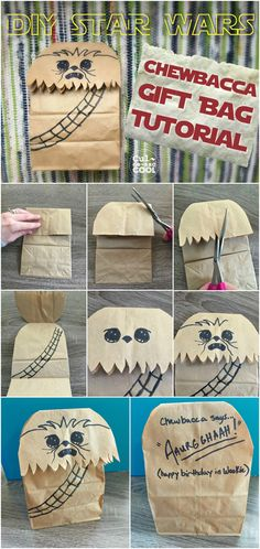 DIY STAR WARS CHEWBACCA GIFT BAG TUTORIAL | CULDESACCOOL.COM