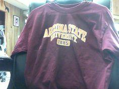 Preowned Arizona State University Sun Devils 1885 Long Sleeve T Shirt L