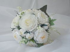 Wedding bouquetpaper flower peonies paper от Mazziflowers на Etsy