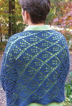 Ravelry: Diamonds are a Girl's Best Friend shawl pattern by Mary C. Gildersleeve #knit, #knitting, #handknitting, #lace, #shawl, #BHWHknits, #MaryGknits, #design, #knitdesign