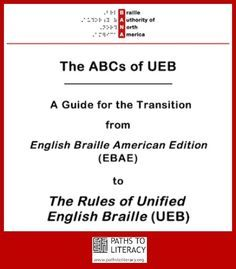 BANA (Braille Authority of North America) announced that a new resource for learning about Unified English Braille (UEB) is available for download.