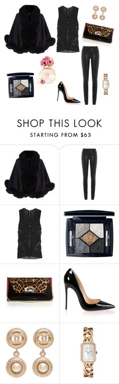 """""""Untitled #24"""" by luxurtatistar ❤ liked on Polyvore featuring Harrods, Helmut Lang, Balmain, Christian Dior, Christian Louboutin and Chanel"""