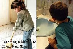 Teaching kids to do their share around the house