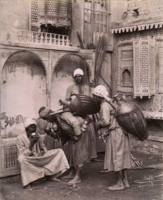 Water carriers in Cairo (1880) Egypt