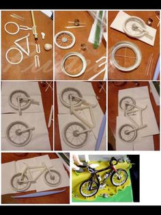 Fondant bicycle tutorial