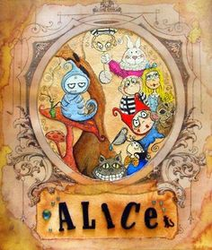 ALice in Wonderland Color Print from OOAK by SpookyHollow on Etsy