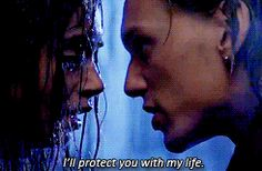 Jace & Clary - TMI movie - .gif  Can I just say that I'm loving how terrible Clary looks and how they aren't keeping her beautiful in every shot that we see! Lol this is how a real person looks like in the rain - Ugly!! :)