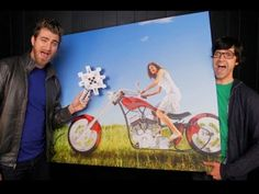 Rhett and Link.. There hilarious and are very talented with the computer..lol