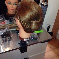 Plait twist hair up