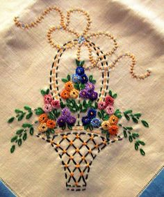Getting to Know Brazilian Embroidery - Embroidery Patterns Hand Embroidery Videos, Hand Embroidery Flowers, Embroidery Works, Flower Embroidery Designs, Learn Embroidery, Hand Embroidery Stitches, Silk Ribbon Embroidery, Crewel Embroidery, Vintage Embroidery