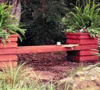 Handsome planter-bench