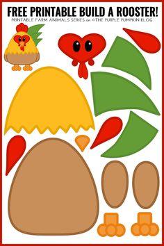 Free Printable Build A Rooster - Fun Farm Animals Series! Just print, cut, and b. - Free Printable Build A Rooster – Fun Farm Animals Series! Just print, cut, and b… - Farm Animals Preschool, Farm Animal Crafts, Animal Crafts For Kids, Free Preschool, Preschool Crafts, Kids Crafts, Preschool Farm Crafts, Farm Animals Games, Farm Animals For Kids