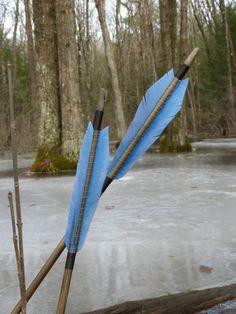 Traditional wood archery arrow, Medieval Style archery arrow, 55-60lb, Hunting, Skyrim, Long Bow