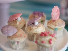Cupcakes for the mermaid party.