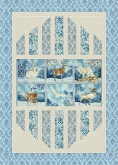 """Reflections"" quilt designed by Mountainpeek Creations. Features Winter White and Quilter's Linen Metallic. Frost colorstory."