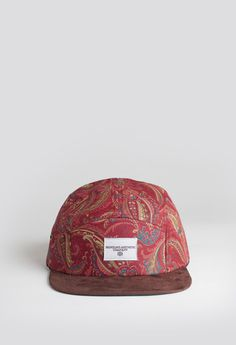 Profound Aesthetic Alizarin Paisley Five Panel Hat http://profoundco.com/collections/hats/products/alizarin-paisley-five-panel-hat